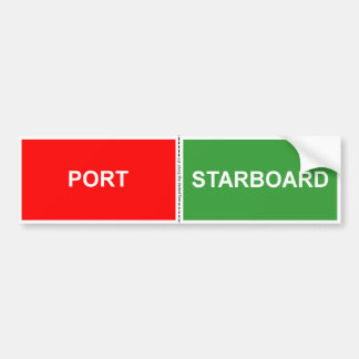 Port and Starboard sticker