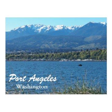 Christmas Themed Port Angeles, Washington Travel Photo Postcard