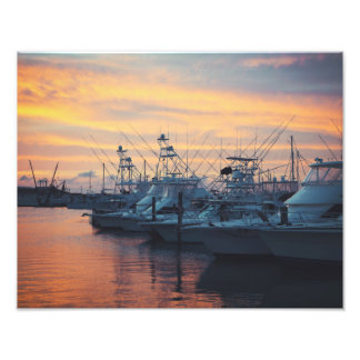 Port Aransas Marina Sunset Photo Print