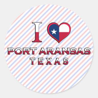 Port Aransas, Texas Classic Round Sticker