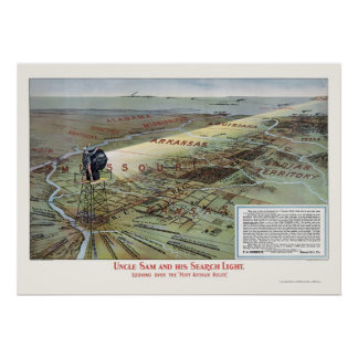 Port Arthur Railroad Route Advertising Poster