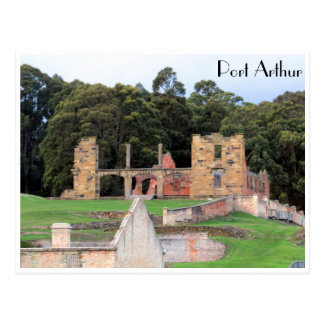 port arthur ruins postcard