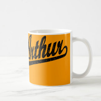 Port Arthur script logo in black distressed Coffee Mug