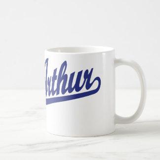 Port Arthur script logo in blue Coffee Mug