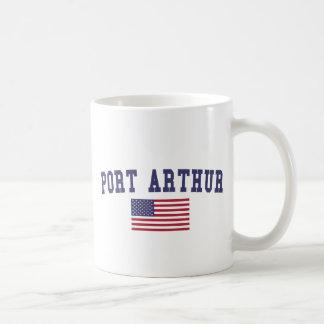 Port Arthur US Flag Coffee Mug