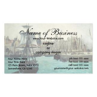 Port at Calais by Edouard Manet Business Card