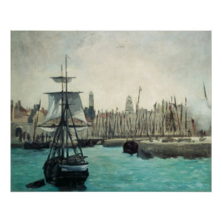 Port at Calais by Manet, Vintage Impressionism Art Poster