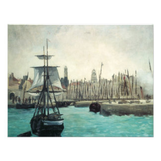 Port at Calais by Manet, Vintage Impressionism Personalized Announcements