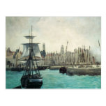 Port at Calais by Manet, Vintage Impressionism Post Cards