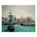Port at Calais by Manet, Vintage Impressionism Print