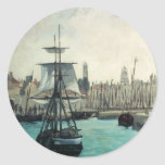 Port at Calais by Manet, Vintage Impressionism Stickers