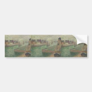 Port at Dieppe in Fog by Gustave Loiseau Bumper Sticker