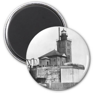 Port Austin Lighthouse 2 Inch Round Magnet