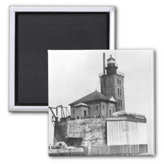 Port Austin Lighthouse 2 Inch Square Magnet