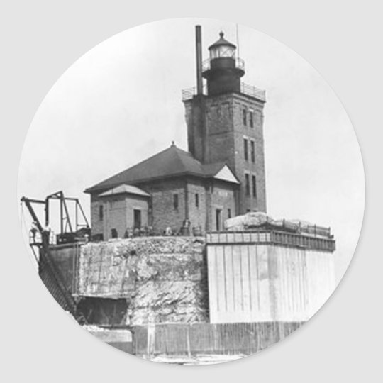 Port Austin Lighthouse Classic Round Sticker