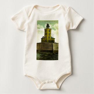 PORT AUSTIN MICHIGAN postcard lighthouse Baby Bodysuit