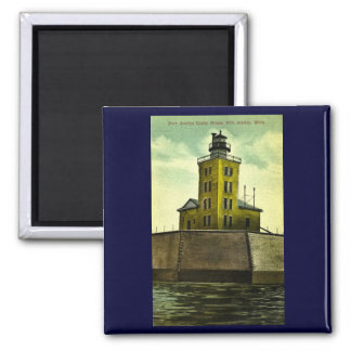 PORT AUSTIN MICHIGAN postcard lighthouse Magnet