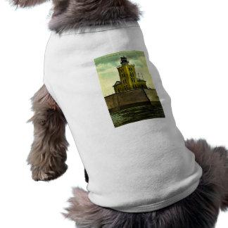 PORT AUSTIN MICHIGAN postcard lighthouse Tee
