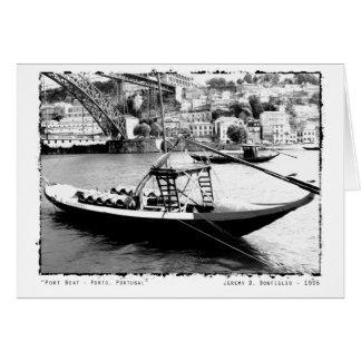 Port Boat - Porto, Portugal Photography Card