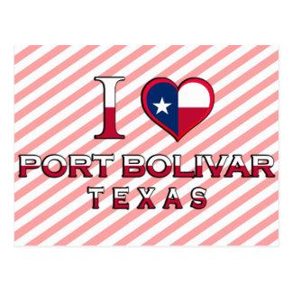 Port Bolivar, Texas Postcard