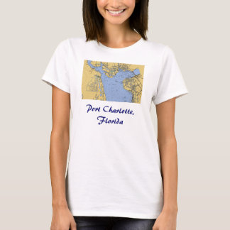 Port Charlotte, Florida Nautical Chart T-Shirt