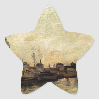 Port de Grenelle by Paul Gauguin Star Sticker