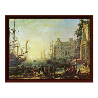 Port De Mer Avec La Villa Médicis Post Cards