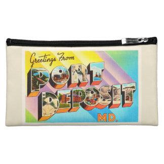 Port Deposit Maryland MD Vintage Travel Postcard- Makeup Bag