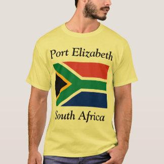 Port Elizabeth, South Africa with Flag T-Shirt