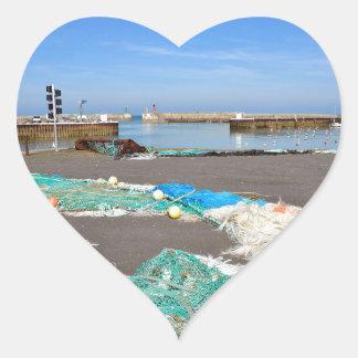 Port-en-Bessin in France Heart Sticker