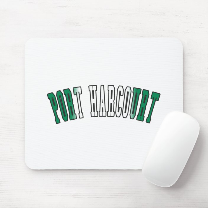 Port Harcourt in Nigeria National Flag Colors Mouse Pad