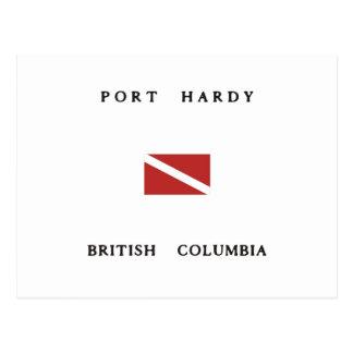 Port Hardy British Columbia Scuba Dive Flag Post Cards