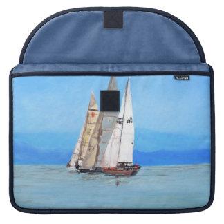 Port Hardy Sailing Regatta Rickshaw Flap Sleeve MacBook Pro Sleeve