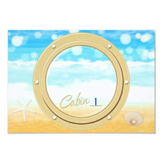 Port hole Beach Cruise Table Seating Number Card