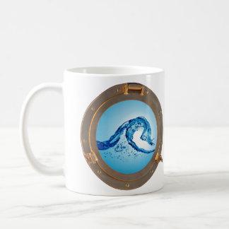 port hole of water coffee mug