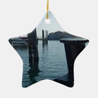 Port Hole View Of Isola Bella From Lago Maggiore Ceramic Ornament