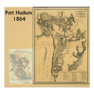 Port Hudson Maps Posters
