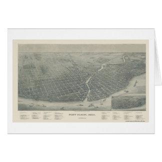 Port Huron, MI Panoramic Map - 1894 Card