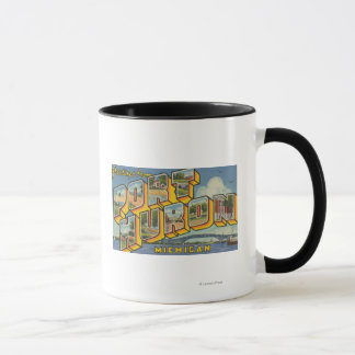 Port Huron, Michigan - Large Letter Scenes 2 Mug