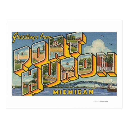 Port Huron, Michigan - Large Letter Scenes 2 Postcard