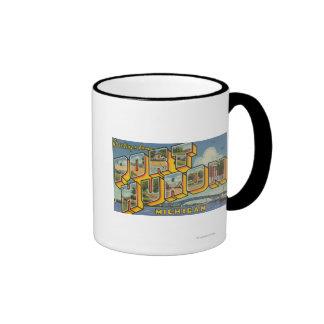 Port Huron, Michigan - Large Letter Scenes 2 Ringer Mug