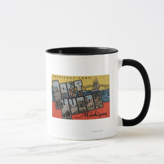 Port Huron, Michigan - Large Letter Scenes Mug