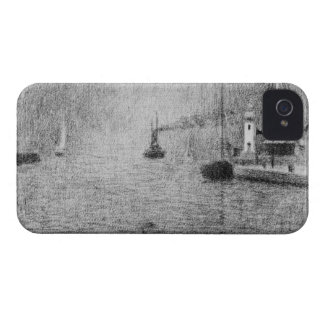Port in Honfleur by Georges Seurat Case-Mate iPhone 4 Case