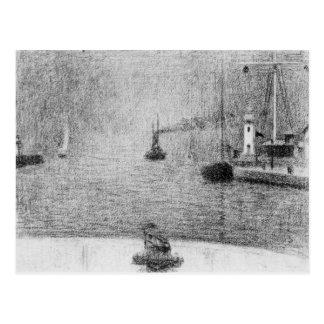 Port in Honfleur by Georges Seurat Postcard