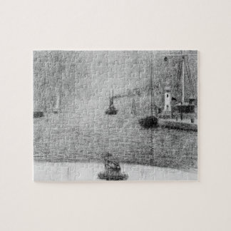 Port in Honfleur by Georges Seurat Jigsaw Puzzle