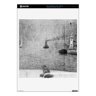Port in Honfleur by Georges Seurat Decal For PS3 Slim