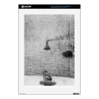 Port in Honfleur by Georges Seurat Skin For PS3 Console