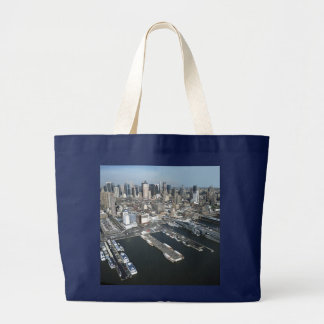 Port in New York City Large Tote Bag