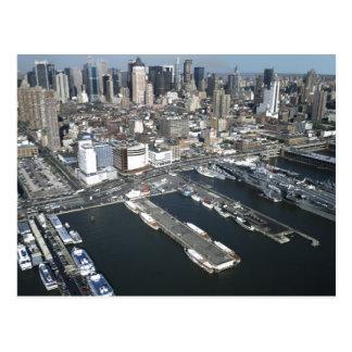 Port in New York City Postcard