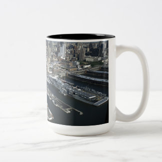 Port in New York City Two-Tone Coffee Mug